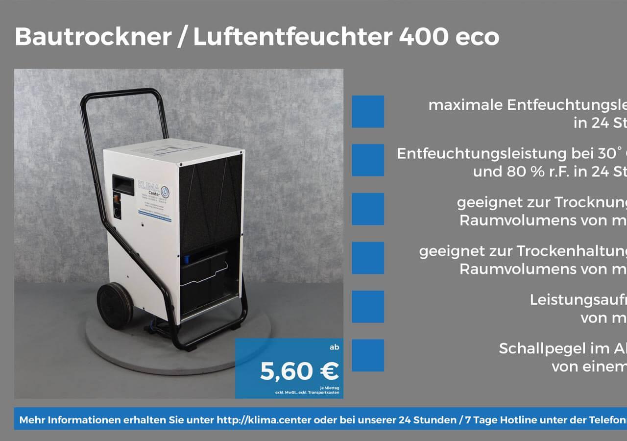 klima center bautrockner mieten präsentation - Vorstellung unseres Bautrockner / Luftentfeuchter Mietgeräteparks