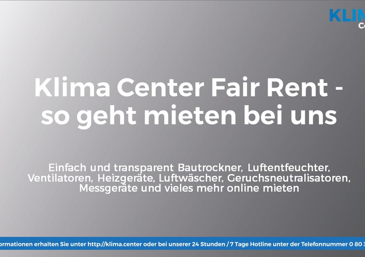 klima center fair rent tarif - Geräte mieten bei Klima Center