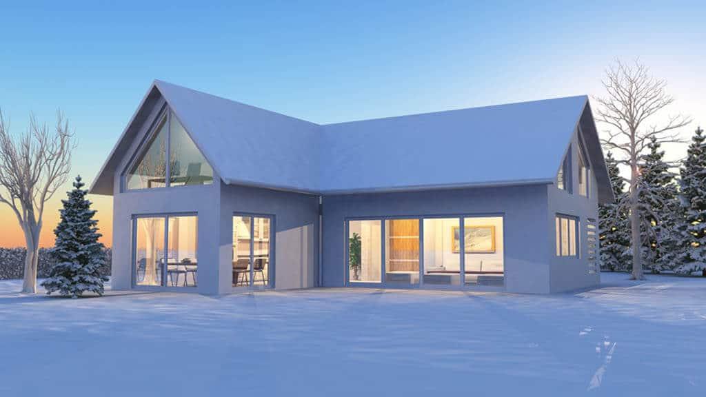 Bautrocknung Winter Trocknungsgeraete Haus - Bautrockner mieten rund um München