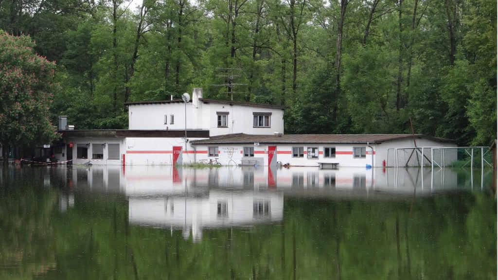 Wasserschaden in München nach Überflutung