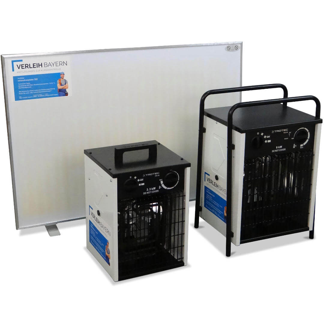klima center heizgeräte mietgeräte verleih - Technische Bautrocknung