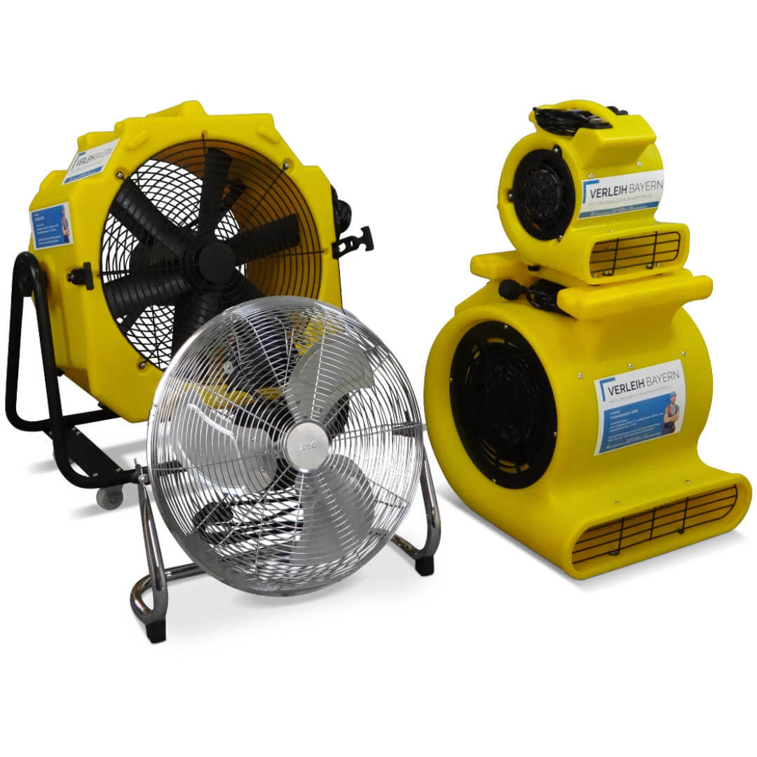 klima center ventilatoren mietgeräte verleih - Technische Bautrocknung